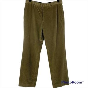 Ralph Lauren Vintage Purple Label Olive Khaki Corduroy Pants 36